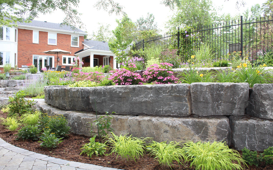 Ridge Road Estate retaining wall